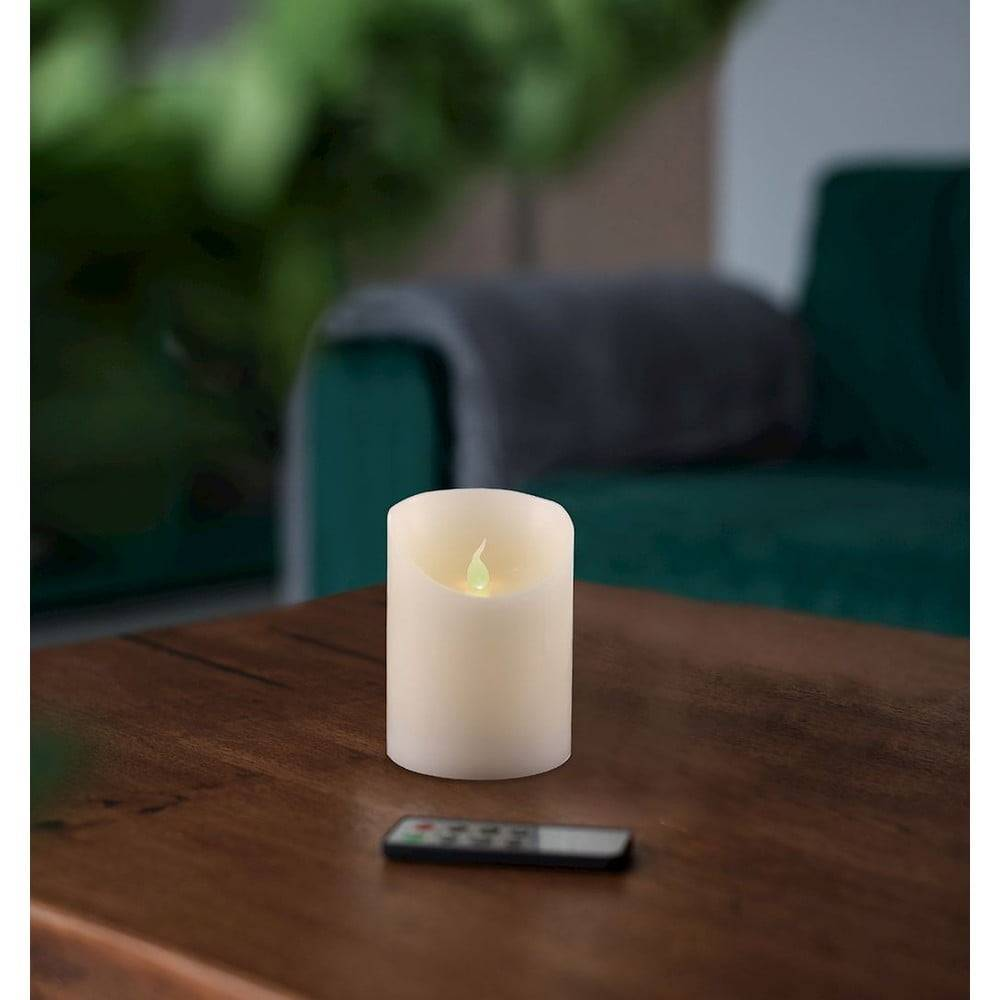 DecoKing LED sviečka s diaľkovým ovládačom DecoKing Wax, výška 10 cm