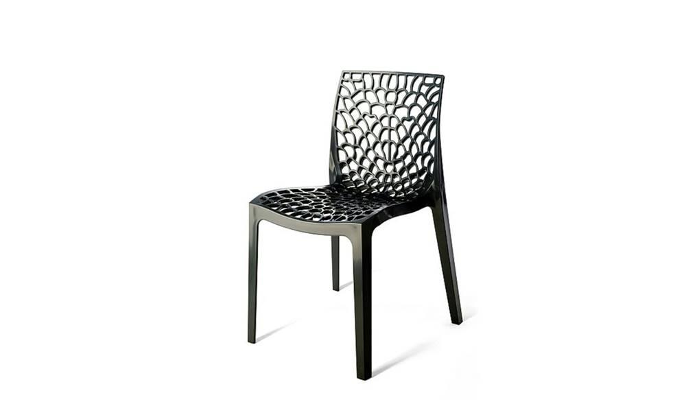 Sconto Jedálenská stolička GRUVYER antracitová