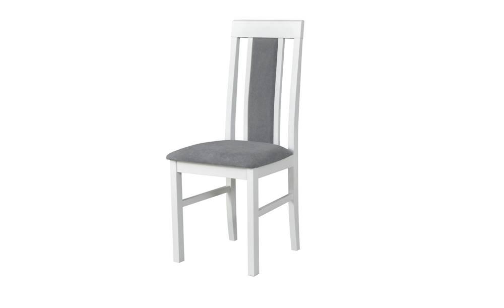 Sconto Jedálenská stolička NILA 2 sivá/biela