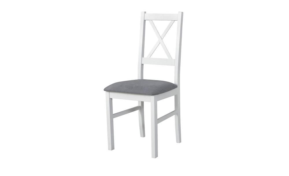 Sconto Jedálenská stolička NILA 10 sivá/biela
