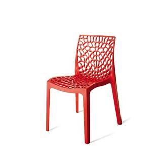 Jedálenská stolička GRUVYER červená