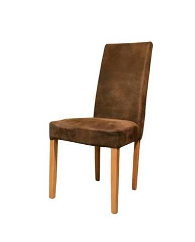 Jedálenská stolička CAPRICE buk/hnedá